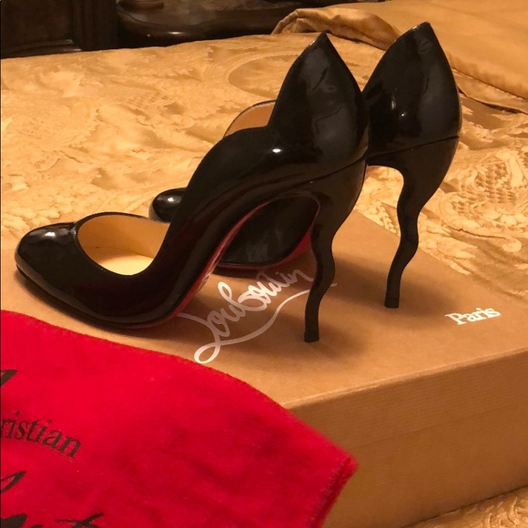 66734402bbe Authentic Christian Louboutin 4 inch heels